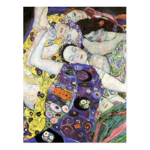 Gustav Klimt ~ die Jungfrau Postkarte