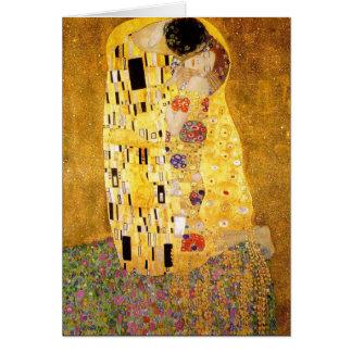 Gustav Klimt die Kuss-Gruß-Karte