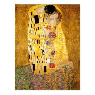 Gustav Klimt die Kuss-Postkarte Postkarte
