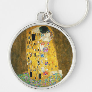 Gustav Klimt die Kuss-Vintage Kunst Nouveau Schlüsselanhänger