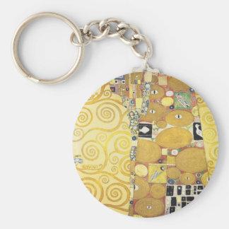 Gustav Klimt - die Umarmung - klassische Grafik Schlüsselanhänger