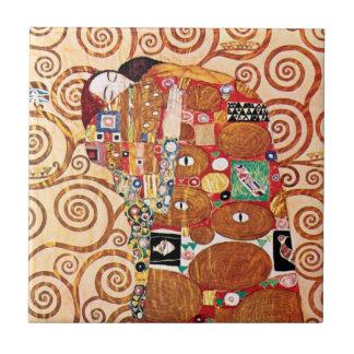 Gustav Klimt - die Umarmung - Kunst-Malerei Fliese