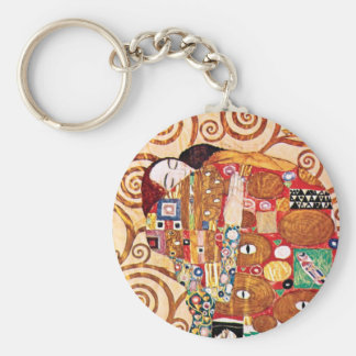 Gustav Klimt - die Umarmung - Kunst-Malerei Schlüsselanhänger