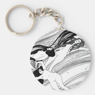 Gustav Klimt - Fisch-Blut-surreale japanische Schlüsselanhänger