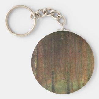 Gustav Klimt - Kiefern-Wald Schlüsselanhänger