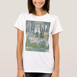 Gustav Klimt - Kirche in Cassone Kunstwerk T-Shirt