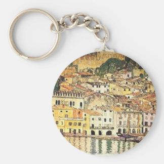 Gustav Klimt - Malcesine auf See Garda Schlüsselanhänger