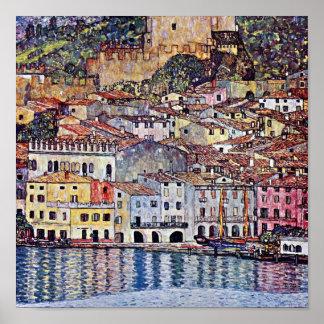 Gustav Klimt - Malcesine in See Garda Italien Poster