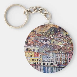 Gustav Klimt - Malcesine in See Garda Italien Schlüsselanhänger