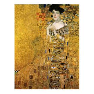 GUSTAV KLIMT - Porträt von Adele Bloch-Bauer 1907 Postkarte