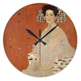 GUSTAV KLIMT - Porträt von Fritza Riedler 1906 Große Wanduhr
