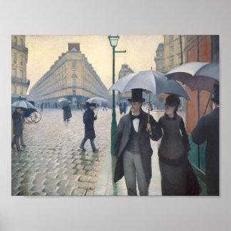 Gustave Caillebotte- Paris, ein regnerischer Tag Posterdruck
