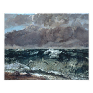 Gustave Courbet - die Welle Fotodruck