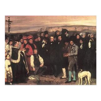 Gustave Courbet- eine Beerdigung bei Ornans Postkarte