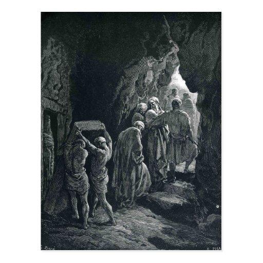 Gustave Dore: Die Beerdigung von Sarah Postkarte