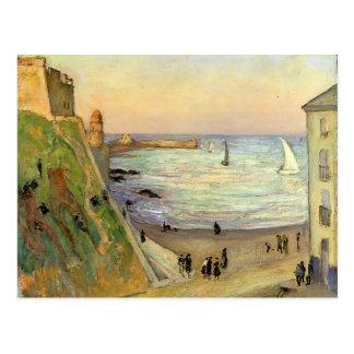 Gustave Loiseau- der Hafen bei Collioure Postkarte