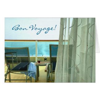 Gut an Bord der kundenspezifischen Reise-Karte Grußkarte