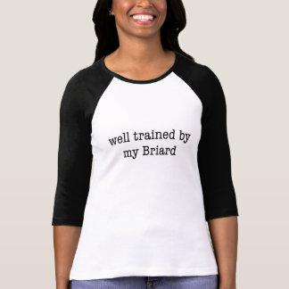 Gut ausgebildet durch mein Briard T-Shirt