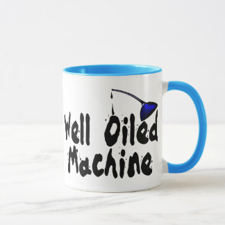 Gut geölte Maschine Tasse