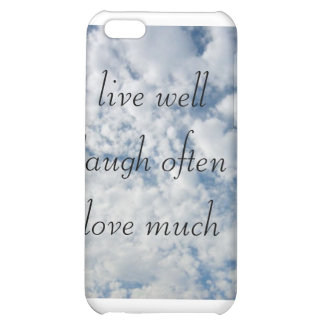 gut leben Liebe des Lachens häufig viel iPhone 5C Cover