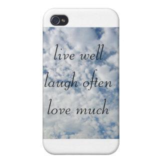 gut leben Liebe des Lachens häufig viel iPhone 4 Hülle