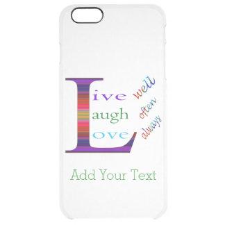 Gut, lebt Lachen häufig, Liebe immer durch STaylor Durchsichtige iPhone 6 Plus Hülle