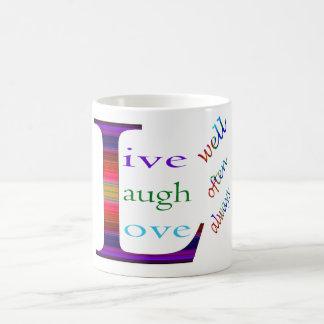 Gut, lebt Lachen häufig, Liebe immer durch STaylor Kaffeetasse