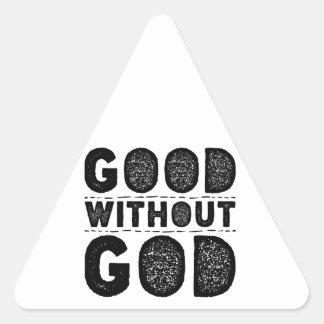 Gut ohne Gott Dreieckiger Aufkleber