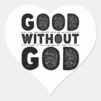 Gut ohne Gott Herz-Aufkleber