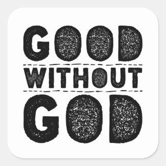 Gut ohne Gott Quadratischer Aufkleber