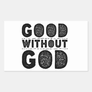 Gut ohne Gott Rechteckiger Aufkleber