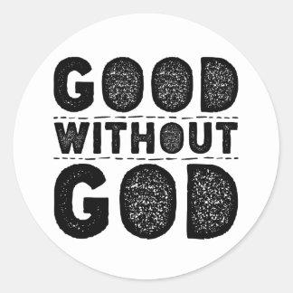 Gut ohne Gott Runder Aufkleber