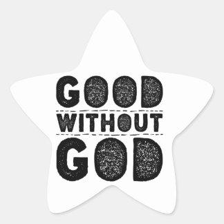 Gut ohne Gott Stern-Aufkleber