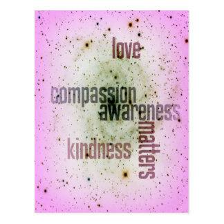 Güte-Angelegenheits-universelle Liebe-Postkarte Postkarte