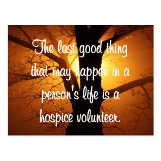 Gute Arbeiten des Pflegeheim-Freiwilligen Postkarte
