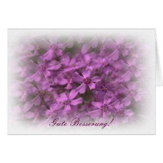 Gute Besserung MIT Rosa Blumen Karte