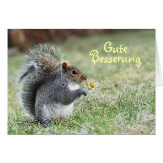 Gute Besserung niedliche Eichhörnchen-Karte Karte