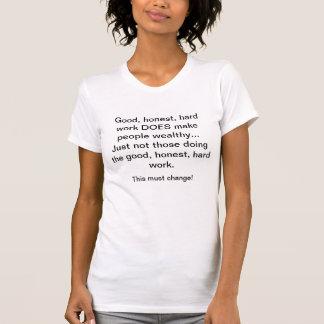 Gute, ehrliche, harte Arbeit zahlt nicht Weiß T-Shirt