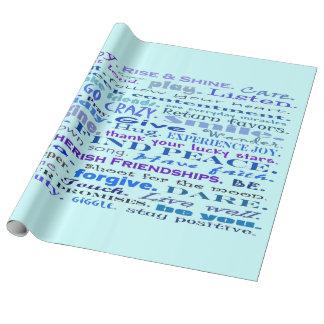 gute Erschütterungen im Blau Geschenkpapier