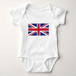 Gute Farbebritische Königreich-Flagge Baby Strampler