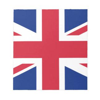 Gute Farbebritische Königreich-Flagge Notizblock