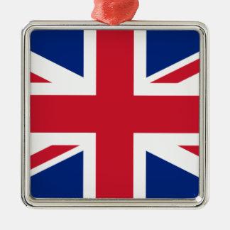 Gute Farbebritische Königreich-Flagge Silbernes Ornament