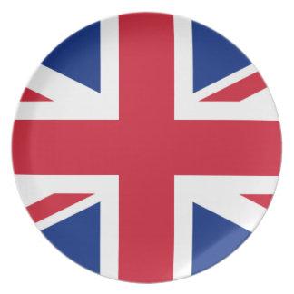Gute Farbebritische Königreich-Flagge Teller