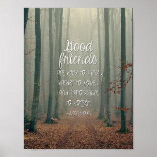 Gute Freund-inspirierend Plakat