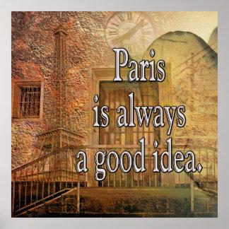 Gute Idee Paris -- Großes Plakat