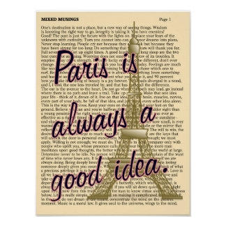 Gute Idee Paris -- Kunstdruck Poster