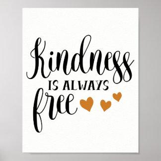Güte ist immer frei, Liebe und Kaffee-Geschäft Poster