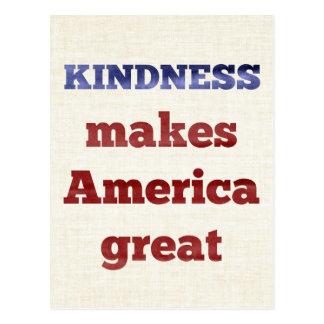 Güte macht Amerika groß Postkarte