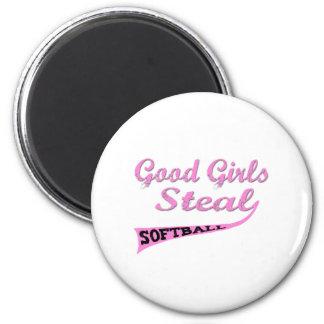 Gute Mädchen stehlen (rosa städtische) Runder Magnet 5,7 Cm