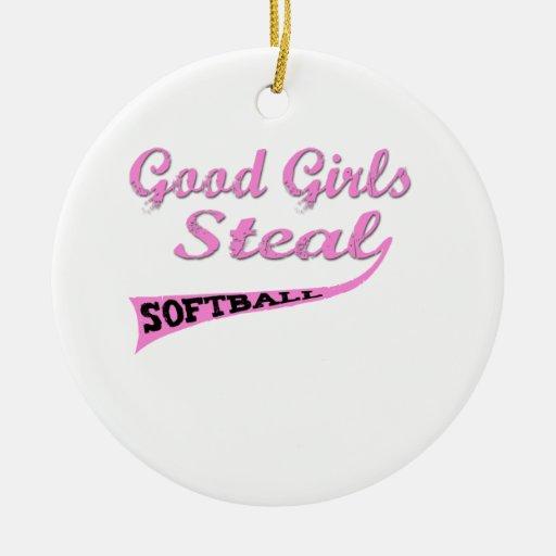 Gute Mädchen stehlen (rosa städtische) Weihnachtsornament